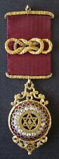 Masonic Jewel Rare Victorian Watch Case Royal Arch with Brilliants