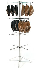 Spinning Wire Display Rack 4 Tier 16 Peg Hooks Retail Store Fixture Chrome NEW