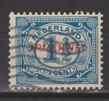 D8 Dienstzegel 8 armenwet used NVPH Netherlands Nederland COUR