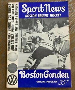Rare 1965-66 Boston Bruins Official Program VS. Detroit Red Wings Excellent