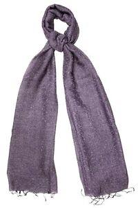 Purple Scarf Silk & Cotton Speckled weave - Fair Trade BNWT 180cm x 80cm