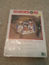 Vintage Dimensions snow family holiday Victoria Howard counted cross stitch