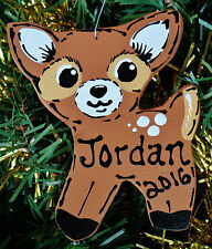 U CHOOSE NAME & YEAR Personalized DEER Christmas Fawn ORNAMENT Holiday Decor