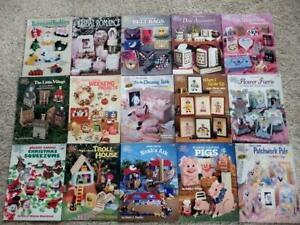 15 Plastic Canvas Pattern Books Lot B6