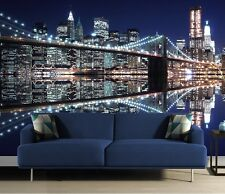 MURALE Parete NEW YORK BROOKLYN BRIDGE Carta da parati 320x230cm Cityscape Gigante Arte