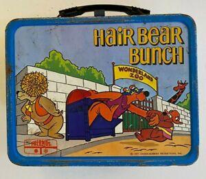 HAIR BEAR BUNCH Vintage 1971 Thermos Brand Metal Lunch Box Hanna Barbera