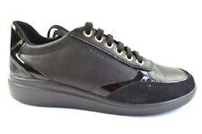 Geox Damen Sneaker Leder Schwarz in der Gr. 37