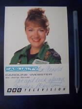 Caroline Webster - Casualty    Autograph (DD2)