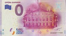 BILLET 0  EURO OPERA GARNIER PARIS FRANCE 2016 NUMERO 11100
