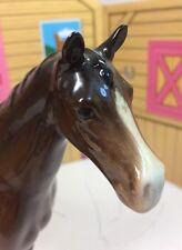 Vintage Estate Beswick England Glossy Porcelain Bay Stallion Horse Figure