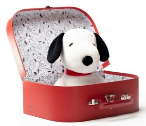 Snoopy in Peanuts Suitcase by Teddy Hermann - soft toy collectable dog - BNIB