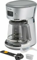 Mr. Coffee - Easy Measure 12-Cup Programmable Coffee Maker - Silver