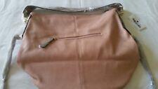 MG Collection Style Hobo Pink Handbag With Removable Strap
