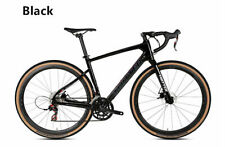 Carbon Fibre Gravel Bike Hydraulic Disc Brake 2x12 speed groupset - BLACK