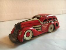 Vintage 1930's Marx Tricky Taxi Tin Wind Up Toy Car (WORKS)
