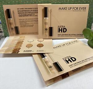 3x MAKE UP FOREVER~ Ultra HD~Light Capturing, Self-Setting, Concealer Sample Sz