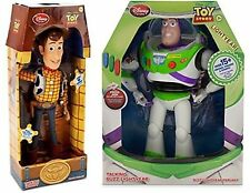 Disney Toy Story 12'' Talking Buzz Lightyear AND 16'' Talking Woody Figures