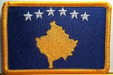 KOSOVO Flag Patch With VELCRO® Brand Fastener Gold Emblem #92