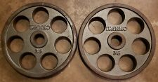 IVANKO Revolvers Pair 35lb Olympic weight 35 70lbs total gym OMEZH E-Z Lift