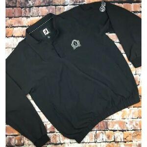 FootJoy Mens 1/4 Button Jacket Golf Windbreaker L