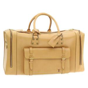 LOUIS VUITTON Nomade Boston Travel Bag Beige SP Order LV Auth 22115