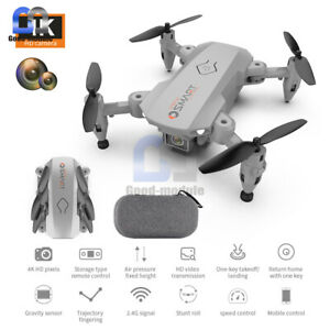 Foldable Mini Drone 4K UAV Dual HD Camera Selfie Aerial RC Helicopter Four Axis