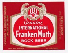 Franken Muth Bock Beer Label