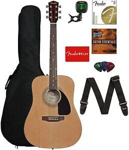 Fender FA-115 Dreadnought Guitar Natural w/Gig Bag, Tuner, Strings,Strap & Picks