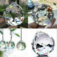 20mm Clear Feng Shui Hanging Crystal Ball Lamp Sphere Catcher Rainbow Sun E2S4