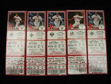 Lot of 5 2004 Championship Season Boston Red Sox Ticket Stubs