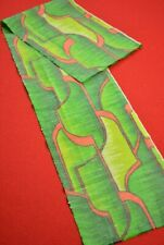"""Vintage Japanese Kimono Fabric Wool Antique Boro Kusakizome Woven 36.6""""/XB46/45"""