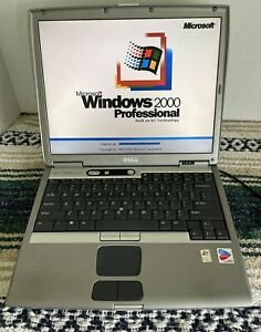 Dell Latitude D600 Legacy Windows 2000 Gaming Laptop Parallel Serial Infrared