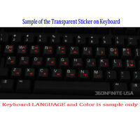 French QWERTY Transparent Keyboard Sticker laptop desktop RED BLACK WHITE