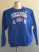 Men's Chicago Cubs 2016 World Series Champions Pullover Sweatshirt - Royal Blue