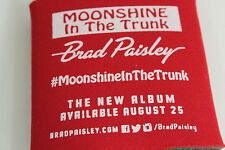 Brad Paisley #Moonshine In The Trunk Red Beer Drink Holder Koozie Coozie