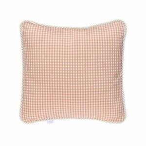 Glenna Jean Maddie Pillow, Pink/Tan Check