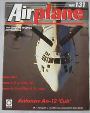 Airplane Issue 131 Antonov An-12 'Cub' poster, de Havilland Venom cutaway