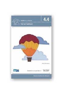 QuicKutz Exclusive 4x4 HOT AIR BALLOON w/Clouds DoubleKutz Revolution Die