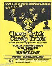 Cheap Trick Todd Rundgren Concert Handbill Flyer Nyc