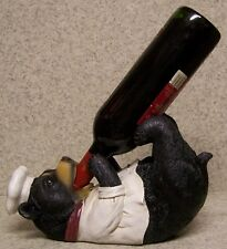Wine Bottle Holder and/or Decorative Sculpture Bear Chef NEW