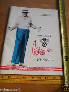 1989 Bob Hope Celebrity Golf Tournament Program March Air Force Base