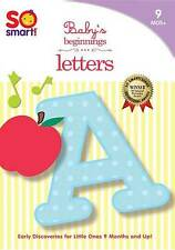 SO SMART! LETTERS DVD & CD  FOR BABIES 9-36 MONTHS CLASSICAL MUSIC