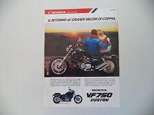 advertising Pubblicità 1987 MOTO HONDA VF 750 C CUSTOM