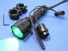 Green Light CREE LED 1-Mode Flashlight Rifle/Shotgun Torch + Remote & Mount C8/T