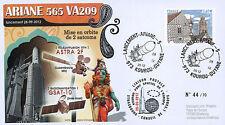 """VA209LT2 FDC KOUROU """"ARIANE 5 Rocket - Flight 209 / ASTRA 2F & GSAT-10"""" 2012"""