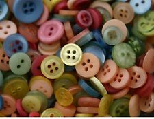 100 SMALL PASTEL New Buttons - Great for Sewing Craft Scrapbooking & more