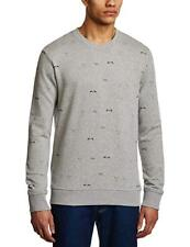Selected Homme Men's Rower Sweat H Paisley Crew Neck Long Sleeve Sports Jumper S