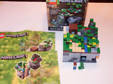 Lego Minecraft Set #21102 Micro World Complete Set. Pre-owned. ~Retired~