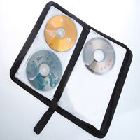 80 Sleeve Disc CD DVD Portable Storage Case Cover Wallet Hard Box Bag Holder D
