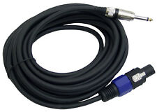 PYLE-PRO PPSJ30 - 30ft. 12 Gauge Professional Speaker Cable Speakon to 1/4'' New